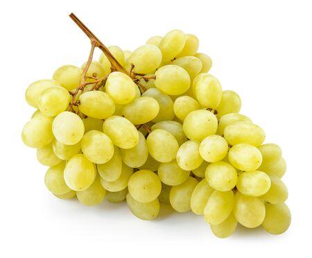 Winogrono. Winogrona na białym tle. Zielone winogrona. Ze ścieżką przycinającą. Pełna głębia ostrości Zdjęcie Seryjne