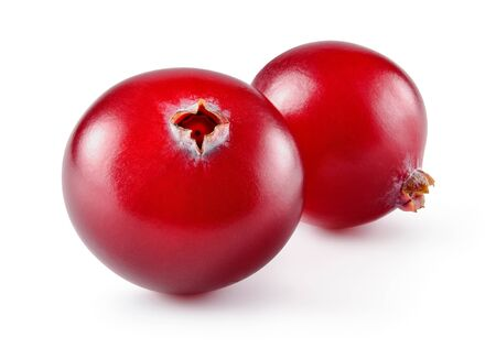 Cranberry. Cranberries isolated on white background. With clipping path. Full depth of field.