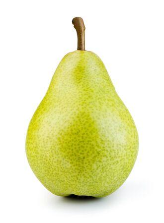 Grüne Birne auf Weiß Standard-Bild