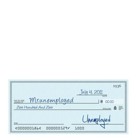スターリング: 7 月 4 日に Unemplyment 小切手 写真素材