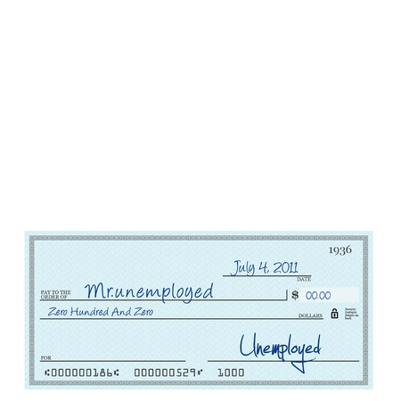 Unemplyment cheque on 4th july photo