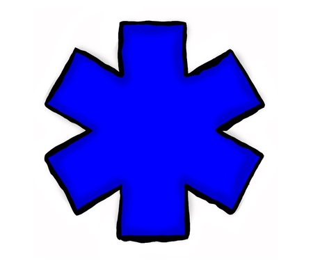 medical symbol blue in color with 3d effect Stock Photo