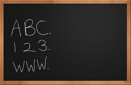 children now learn internet with abc and 123