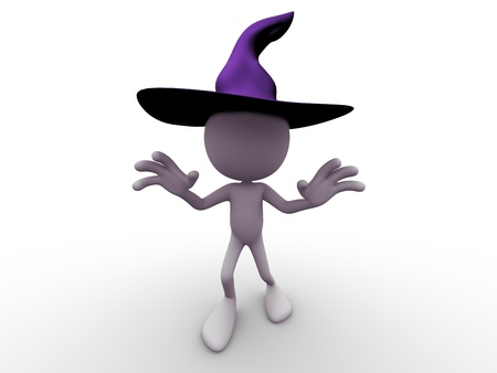 halloween Hat  character trying to scare