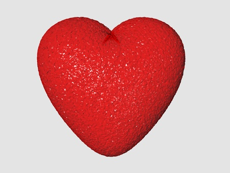 heart with red candy texture glowing
