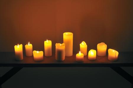 doce velas Foto de archivo