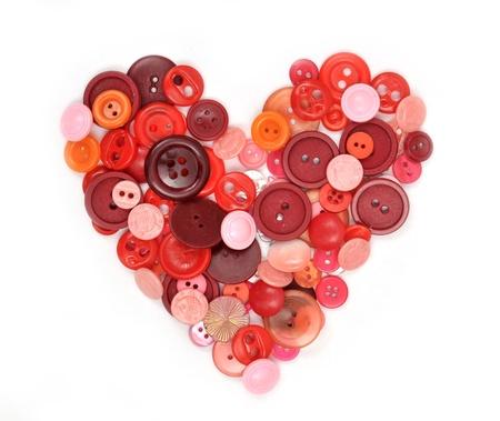 Sewing buttons heart Standard-Bild