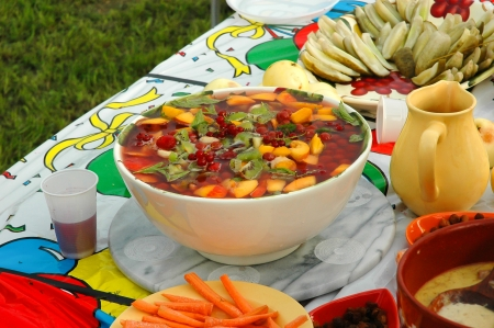 Fresh fruit drink in a bowl Stock Photo - 17106834