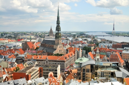 View of old city of Riga