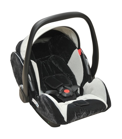 car seat: Baby car seat Stock Photo