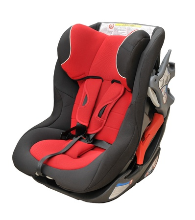Baby car seat isolated photo