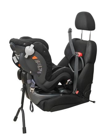 child car seat in car photo