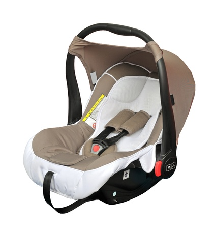 car seat: Sede di automobile del bambino isolato