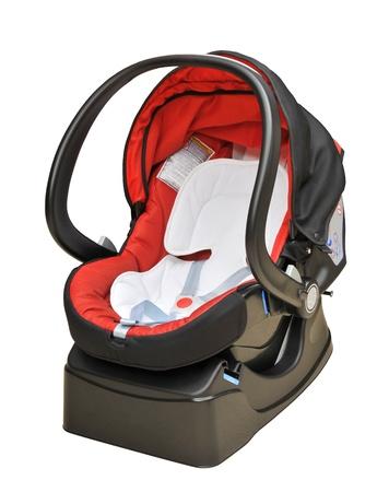 asiento coche: Silla para bebe coche aislado Foto de archivo
