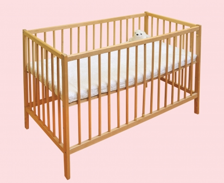 Baby s Crib in bedroom photo