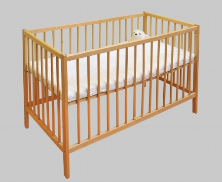 Wooden kids bed photo