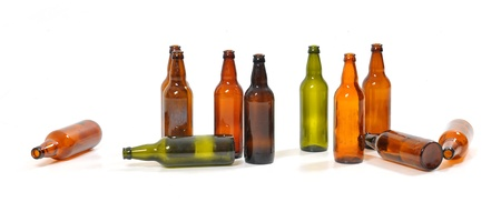 empty bottles of beer photo