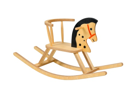 wooden rocking horse photo