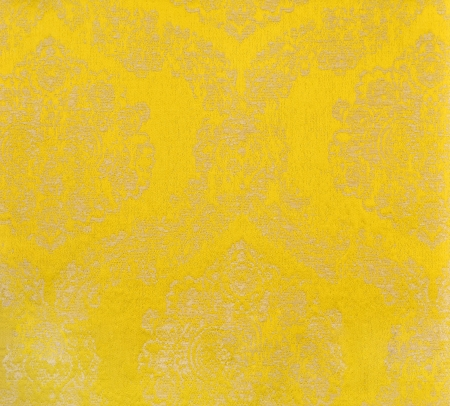 yellow curtain fabric photo