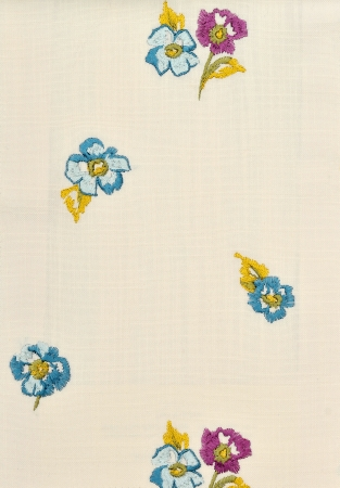 Fragment of fabric with flowers photo