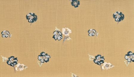 decorative fabric with flowers photo