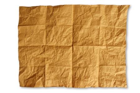 crinkled: Crinkled, crease  brown paper texture