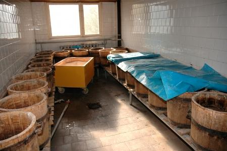 oak barrel: oak barrel Stock Photo
