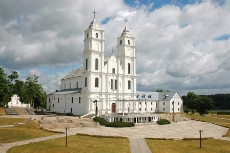 Aglona church in Latvia photo