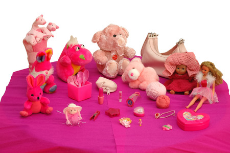 barbie: pink and purple goods Stock Photo