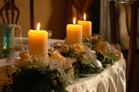 candle light: decoration with candles
