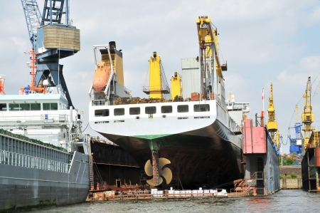 Huge ships in a dry dock  Stock Photo - 22245562