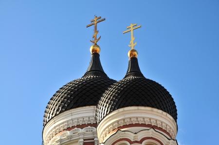 tallin: ortodox church Tallin, Alexander Nevsky Cathedral Stock Photo