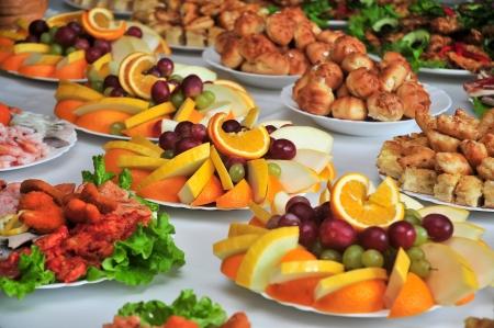 sallad: holiday table Stock Photo