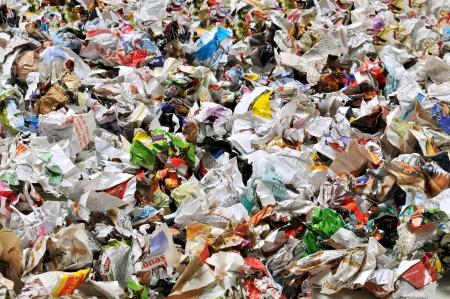 wastepaper: Crumpled paper