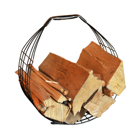basket for fire wood photo