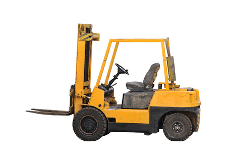 industrial fork lift truck photo