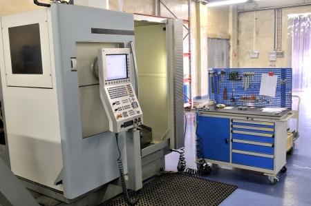 High precision lathe with control panel  Standard-Bild