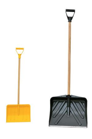 heap snow: snow shovels