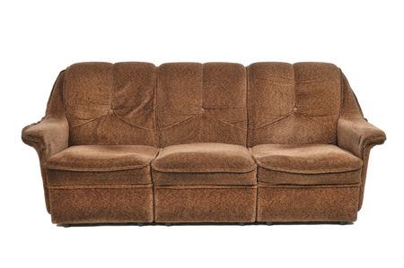 seater: brown sofa