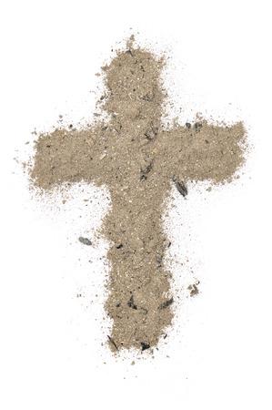 cross made of ashes Standard-Bild
