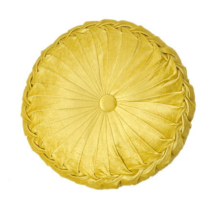 Yellow round pillow