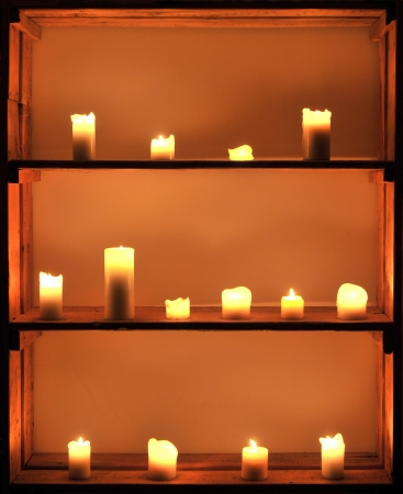 warming therapy: Candles Stock Photo