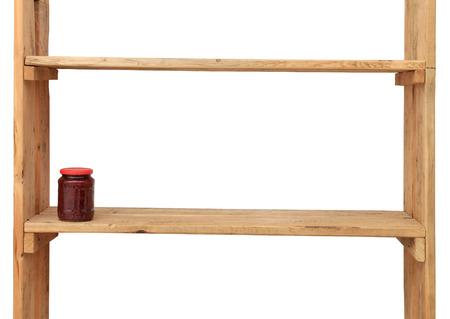 scarcity: Jam-jar in wooden shelf Stock Photo