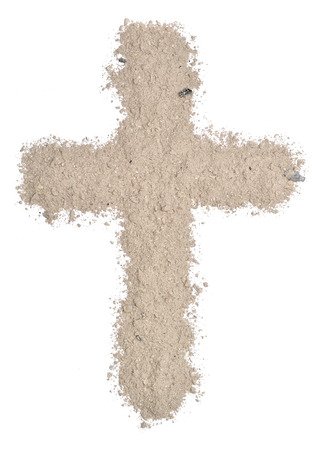 Cross made of ashes  Stock Photo - 25293021