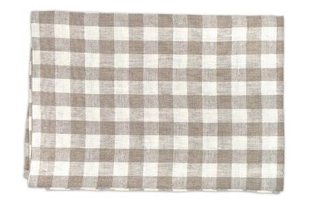dishcloth: Checkered  kitchen towel Stock Photo