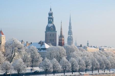 Winter in Riga, Latvia.