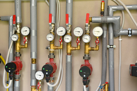 transducer: Heating system in a boiler room