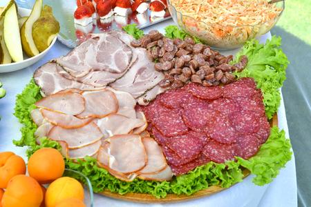 platter: meat platter Stock Photo