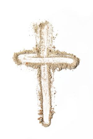 Kreuz aus Asche