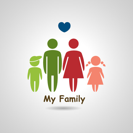 father and son holding hands: Family graphic design, vector illustration
